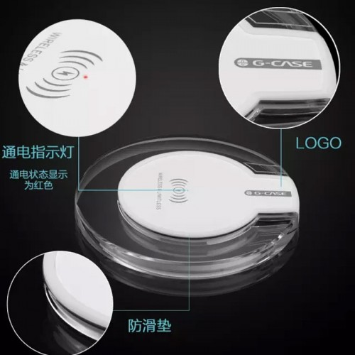G-Case Qi wireless Charger For iPhone X , S8 , S8 Plus , Note 8