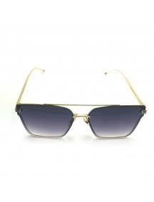 GUCCI Blue Lens Gold Temple Gold Lens Sunglasess