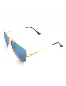 Louis Vuitton Blue Lens Gold Temple Gold Frame Sunglass