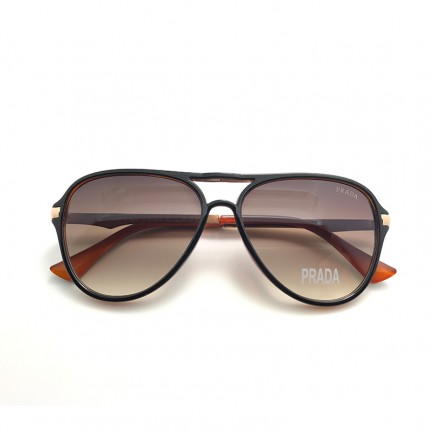 Prada Aviator Sunglasses with Red Frame