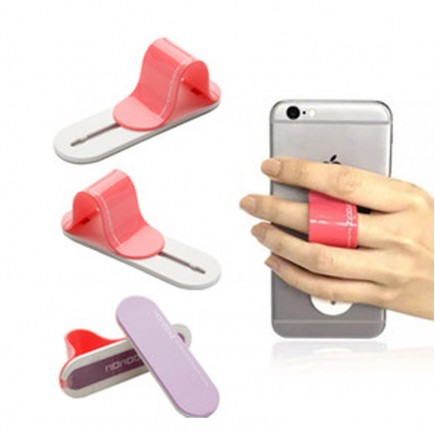 Multi Band Phone Grip & Cell Phone Holder & Self Stand for Smartphones & Tablets - Gray