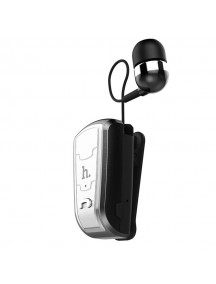 HOCO E4 Series Retractable Clip On Flexible Bluetooth Earphone For Smartphones - Black