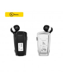 HOCO E4 Series Retractable Clip On Flexible Bluetooth Earphone For Smartphones - Silver