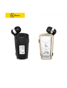 HOCO E4 Series Retractable Clip On Flexible Bluetooth Earphone For Smartphones - Gold