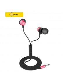 HOCO Titanium Alloy Universal In-Ear Wire Control Earphone with Mic - Red
