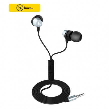 HOCO Titanium Alloy Universal In-Ear Wire Control Earphone with Mic - Tarnish