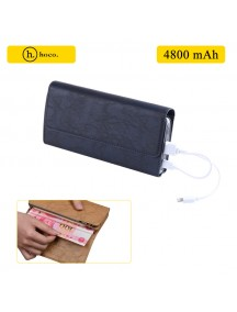 HOCO Wallet with 4800 mAh Power Bank For All Smart Phones - Blue
