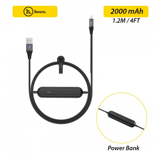 HOCO U22 2 in 1 Cable 1.2M with 2000 mAh...