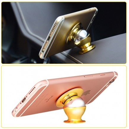 HOCO  Magnetic Mobile Car Mount For All Smart Phones - Rose Gold