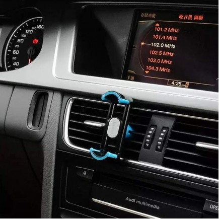 HOCO 360 Degree Rotation Car AC Vent Holder for Smartphones - Black/Gray
