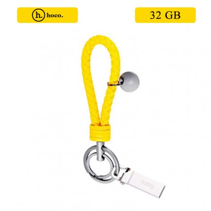HOCO Portable Slim U1 Keychain USB Flash Drive 32 GB - Yellow