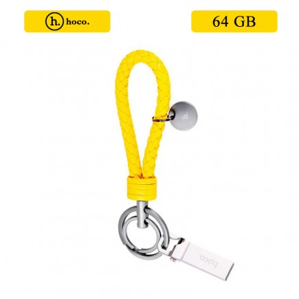 HOCO Portable Slim U1 Keychain USB Flash Drive 64 GB - Yellow