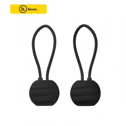 HOCO U3 Whorl Charm 18cm Lightning Cable for Apple Device - Black