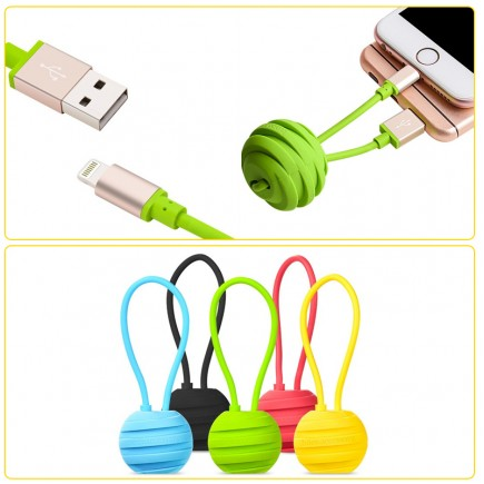 HOCO U3 Whorl Charm 18cm Lightning Cable for Apple Device - Yellow