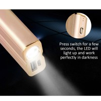 HOCO 5000mAh Portable Power Bank with LED Light - Rose Gold