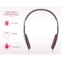 HOCO W4 Touch type Bluetooth Headset For All Devices - Blue
