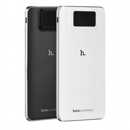 HOCO 10000 mAh 2 USB Power Bank with Quick Charge - Black