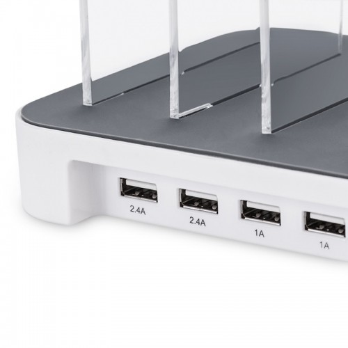 HOCO 4 USB Port Powerdock Smart Charging Station for All Smartphones & Tablets - White
