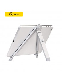 """HOCO 7"""" Universal Multi-Angle Metal Holder Stand for All Smartphones & Tablets - Silver"""