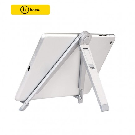 "HOCO 7"" Universal Multi-Angle Metal Holder Stand for All Smartphones & Tablets - Silver"