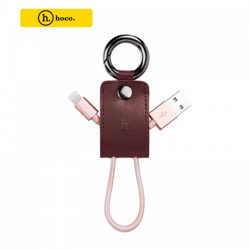HOCO UPL19 Ultra Compact Durable Key Chain Portable Lightning Cable - Red