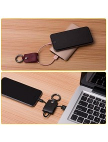 HOCO UPL19 Ultra Compact Durable Key Chain Portable Lightning Cable - Black