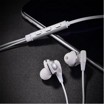 HOCO L1 Lightning USB Earphone for iOS Devices - White