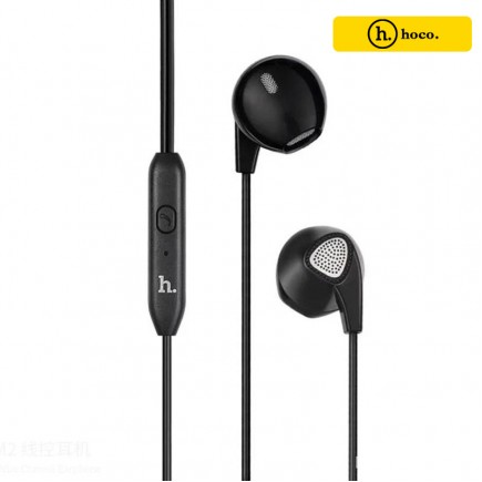 HOCO M2 Wired Earphones with MIC for Smart Phones & Tablets - Black