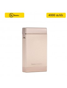 HOCO 4000 mAh Power Bank with Lighter - Gold