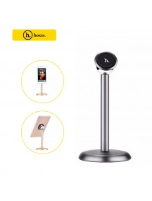 HOCO Luxury Aluminum Magnetic Desk Mobile Phone & Tablet Stand  -  Tarnish Black