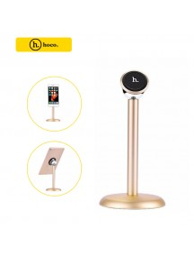 HOCO Luxury Aluminum Magnetic Desk Mobile Phone & Tablet Stand  -  Gold