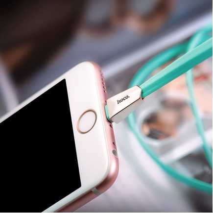 HOCO X4 Zinc Alloy Data Charging Cable For IOS Devices - Blue