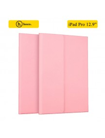 HOCO Portfolio Series Ultra Slim Stand Leather Case For Apple iPad Pro 12.9 Inch - Pink