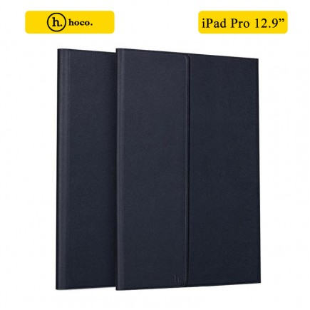 HOCO Portfolio Series Ultra Slim Stand Leather Case For Apple iPad Pro 12.9 Inch - Dark Blue