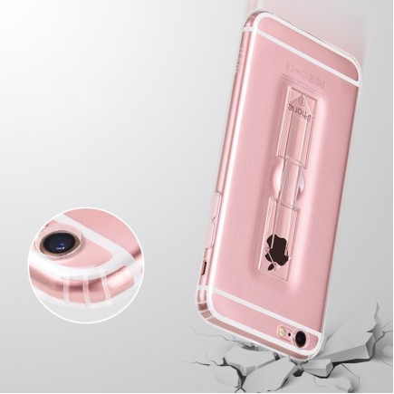 HOCO Transparent TPU Grip Case For iPhone 7 Plus - Transparent Black