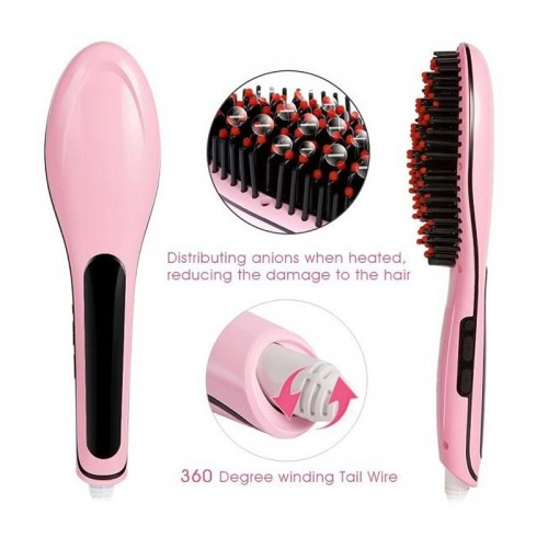 Fast Hair Straightener Comb with Tempera...