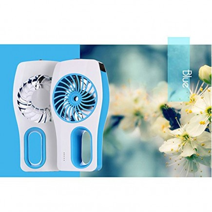 Portable Mini Humidifier USB Rechargeable Cooling Fan - Blue