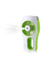 Portable Mini Humidifier USB Rechargeable Cooling Fan - Green