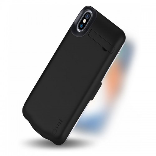 JLW 5000 mAh Slim Rechargeable Battery Case For Apple iPhone X - Black
