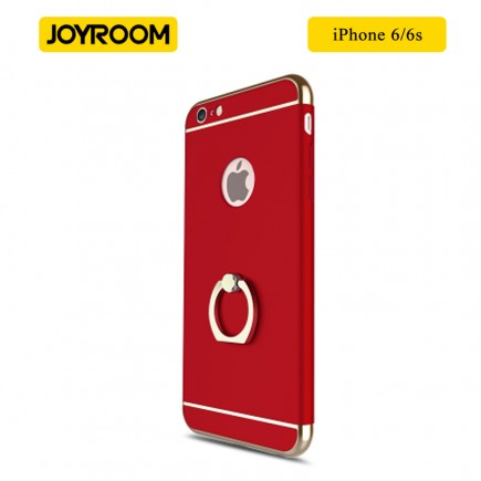 JOYROOM Luxury Ling Series Grip Ring Case For iPhone 6/6S - Red