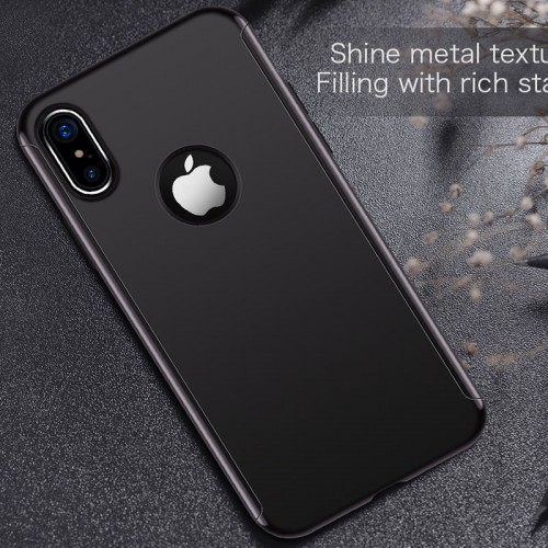 JOYROOM 360 Degree Protection Case For iPhone X - Black