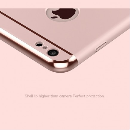 JOYROOM Luxury Ling Series Grip Ring Case For iPhone 6/6S - Rose Gold