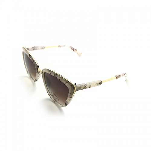 DIOR Brown Lens Gray Temple Gold Frame S...
