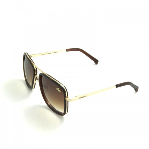 LACOSTE Brown Lens Brown Temple Gold Fra...