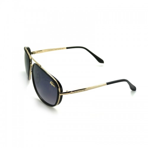LACOSTE Blue Lens Black Temple Gold Fram...