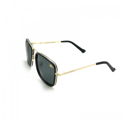 LACOSTE BlueLens Black Temple Gold Frame...