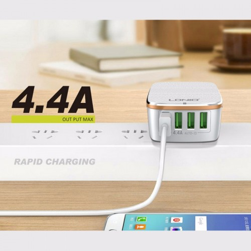 LDNIO 4 USB Port Travel Charger For All Smart phones Tablets