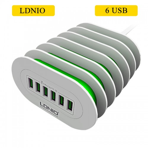 LDNIO 6 USB Ports Charging Station For A...