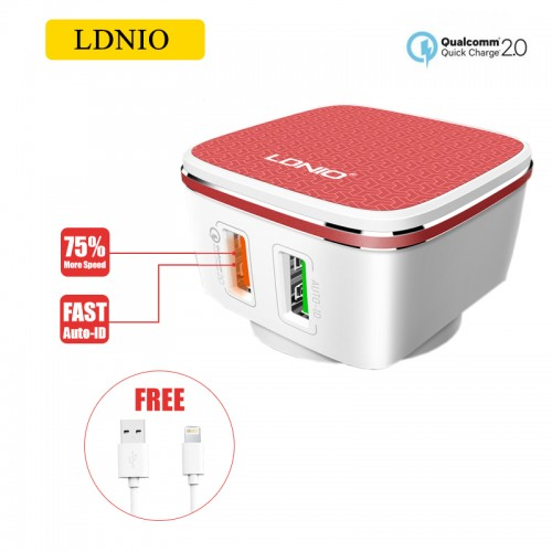 LDNIO A2405Q Qualcomm 2.0 Quick Charge 2...