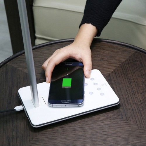 Wireless Charging Table Lamp with QI Wireless Charger